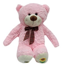 Soft Buddies Soft Toy Pink - Dimple Bear