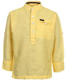 Gini & Jony Kurta Style Shirt Full Sleeves - Sunshine Yellow
