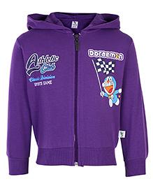 Cucumber Sweatshirt Hooded Purple - Doraemon
