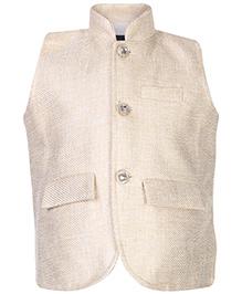 Blazo Waistcoat Sleeveless Crystalline Button - Stand Collar