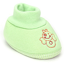 Sapphire Baby Booties Embroidered - Green