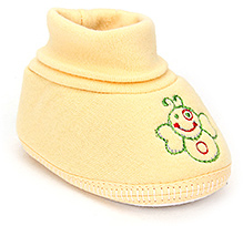 Sapphire Baby Booties Embroidered - Yellow