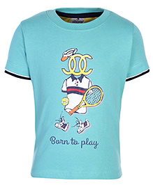Ollypop T-Shirt Half Sleeves - Born To Play Print