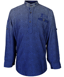 Blazo Kurta Style Shirt Full Sleeves - Mandarin Collar