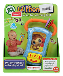 Leap Frog Lil' Mobile Phone Shape Rattle - 6 To 18 Months