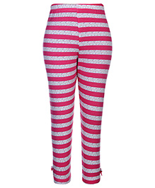 Gini & Jony Full Length Legging Fushia - Stripes