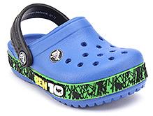 Crocs Clog With Ben 10 Applique Blue - Hole Design Upper