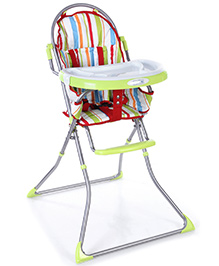 Luv Lap Sunshine Baby High Chair Green - Stripes