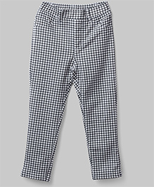 Checkered Print Leggings - Black & White