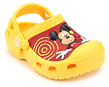 Crocs Clog Mickey Mouse Graphic Yellow - Back Strap