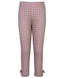 Gini & Jony Full Length Legging Light Brown - Polka Dots