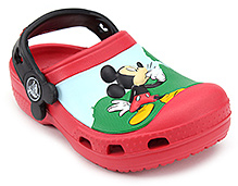 Crocs Clog Mickey Mouse Graphic Red And Black - Back Strap