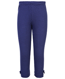 Gini & Jony Full Length Legging Navy Blue - Polka Dots