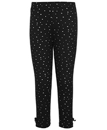 Gini & Jony Full Length Legging Black - Small Hearts