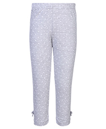 Gini & Jony Full Length Legging Grey - Polka Dots