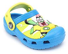 Crocs Clog Sponge Bob Graphic Blue - Back Strap