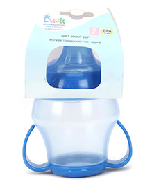 Duck Soft Spout Cup with Bottom Handle Blue - 240 ml