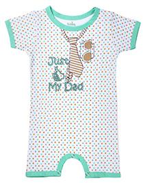 Babyhug Short Sleeve Romper - Dot Print