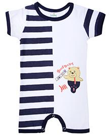 Babyhug Short Sleeve Romper - Stripes