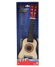 Simba Wooden Guitar - Cream And Red