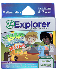 Leap Frog Explorer Learning Game - Leap School Math - 4 To 7 Years