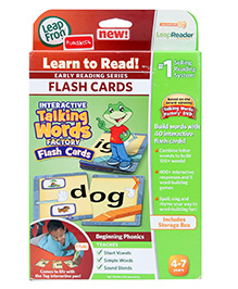 Leap Frog Interactive Talking Word Factory Flash Cards - 4 To 7 Years