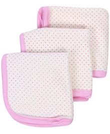 Pink Rabbit Napkins Dot Print - Set Of 3