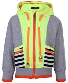 Noddy Hooded Jacket Full Sleeves - Stripe Theme
