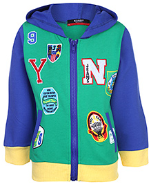 Noddy Hooded Sweatshirt Full Sleeves - Alphabet Theme