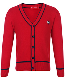 Noddy Cardigan Red - NDY Logo