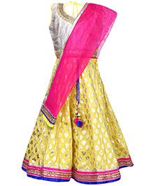 Ami Sleeveless Choli And Lehenga Set - Embellished Neckline