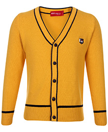 Noddy Cardigan Yellow - NDY Logo