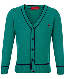 Noddy Cardigan Green - NDY Logo