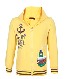 Noddy Sweatshirt Hooded Zippered Full Sleeves - Cruises Theme