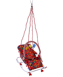 New Natraj Rocker cum Swing Monkey Print - Red