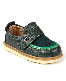 Doink Shoes Faux Leather Party Wear - Green