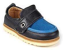 Doink Shoes Faux Leather Party Wear - Black and Blue