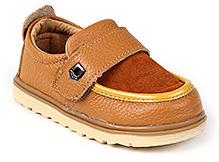 Doink Shoes Faux Leather Party Wear - Beige
