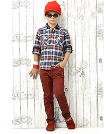 Active Kids Wear Shirt And Trousers - Checks