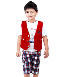 Active Kids Wear Three Piece Set - Checks Theme