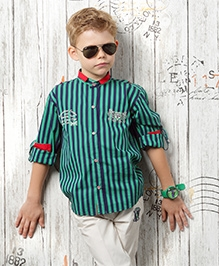 Active Kids Wear Shirt Full Sleeves And Trousers Set - Stripe Theme