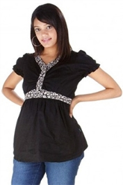 Morph Casual Maternity Top - Black