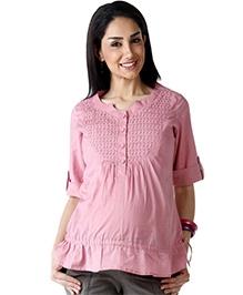 Morph Woven Nursing Top - Pink