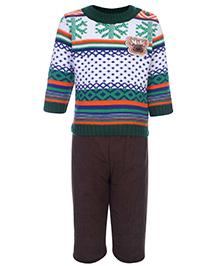 Peridot Sweater And Pant Set - Abstract Theme
