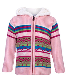Peridot Zippered Sweater Full Sleeves - Abstract Theme