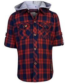 Ruff Shirt With Hood Half Sleeves - Checks Theme
