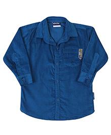 Little Kangaroos Full Sleeve Corduroy Shirt - Blue