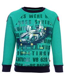 Little Kangaroos Full Sleeve Sweatshirt - Car Print