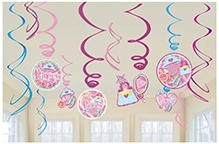 Wanna Party Decoration Swirl Value Pack - Princess