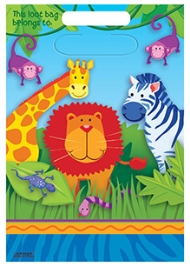 Wanna Party Loot Bags Jungle Animal - Set of 8